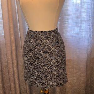 H&M divided black sparkley skirt size medium